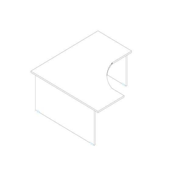 GS 160/160 íróasztal balos kivitelben