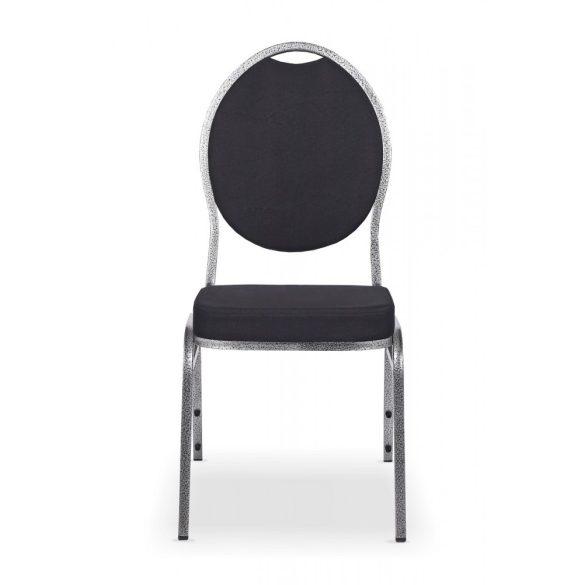 Herman B Delux Bankett szék/konferencia szék ezüst váz - fekete szövet