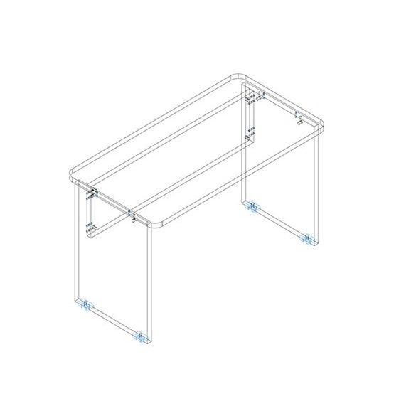 KK 120/62 íróasztal mindkét oldalt kerekített éllel