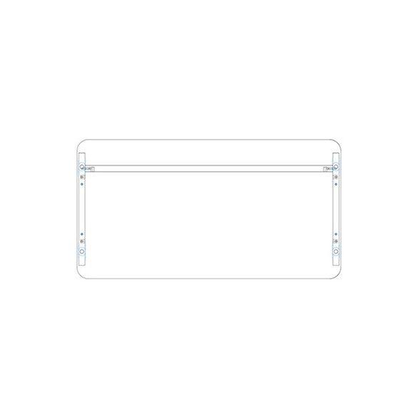 KK 160/62 íróasztal mindkét oldalt kerekített éllel