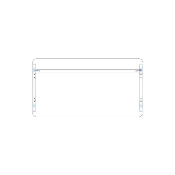 KK 180/62 íróasztal mindkét oldalt kerekített éllel