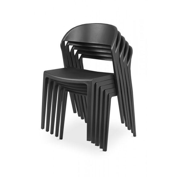 M - Tokyo műanyag szék - fekete színben