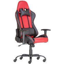 A - Alpha racing gamer szék - piros/fekete színben