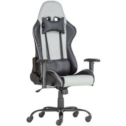 A - Alpha racing gamer szék - szürke/fekete színben