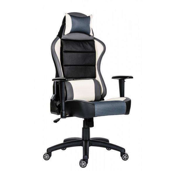 A - GameBoost gamer szék - fehér színben