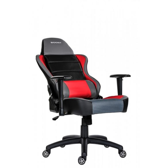 A - GameBoost gamer szék - piros színben