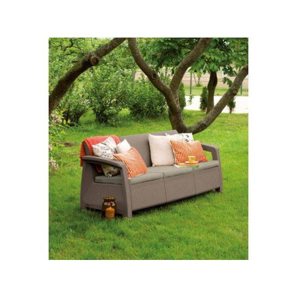 C - Corfu love seat műrattan kültéri/kerti kanapé - beige színben