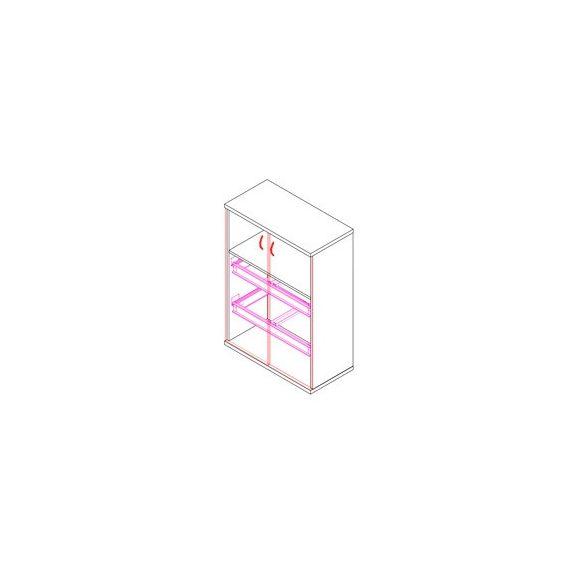 111-2A-2F-REG ajtós-regiszterfiókos irodaszekrény - 2 fakk