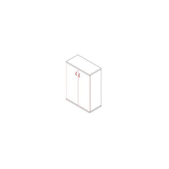 111-2A ajtós-polcos irodaszekrény - 3 fakk
