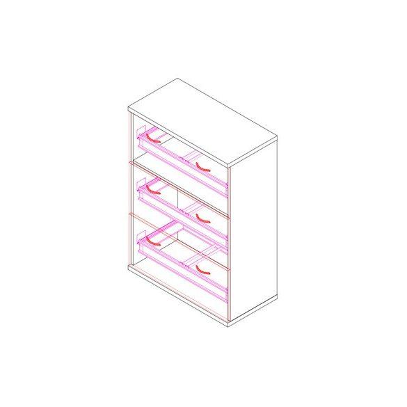 111-3F-REG regiszterfiókos irodaszekrény - 3 fiók