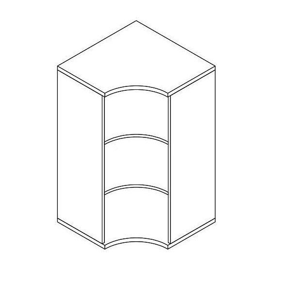 111-SA-NY nyitott-polcos sarokszekrény - 3 fakk