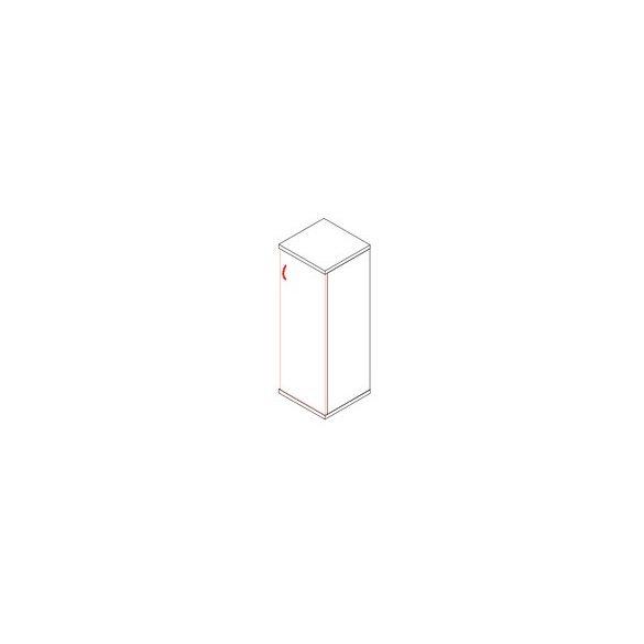 114-1A-J ajtós-polcos feles irodaszekrény jobbos kivitelben - 3 fakk