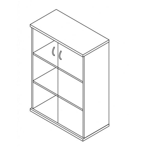 116-2A-Ü üvegajtós-polcos irodaszekrény - 3 fakk