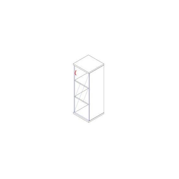 117-1Ü-J üvegajtós-polcos feles irodaszekrény jobbos kivitelben - 3 fakk
