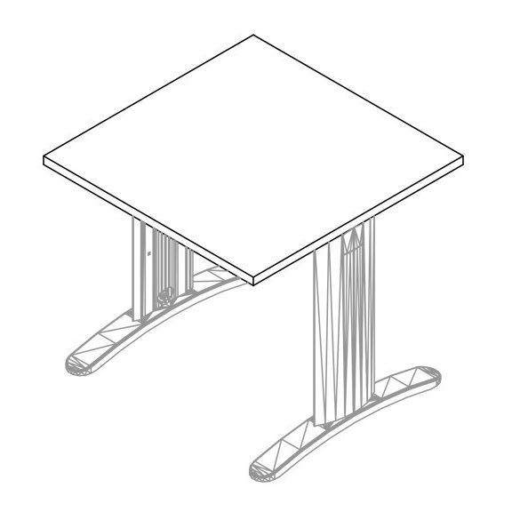 IS-140/80 LUX fémlábas íróasztal
