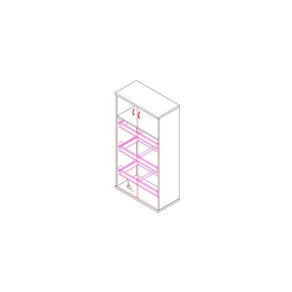 151-2A-3F-REG ajtós-regiszterfiókos irodaszekrény - 3 fakk