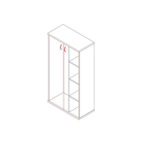 151-2A-A-P akasztós-polcos irodaszekrény - 4 fakk