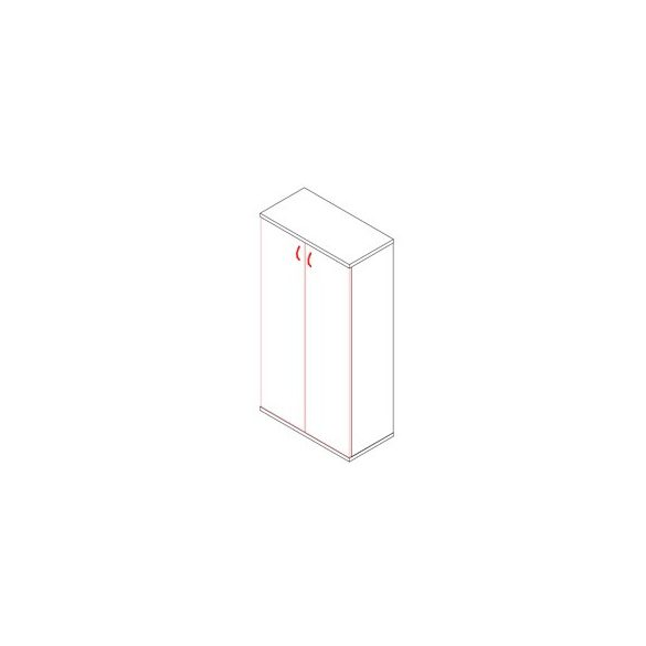 151-2A ajtós-polcos irodaszekrény - 4 fakk