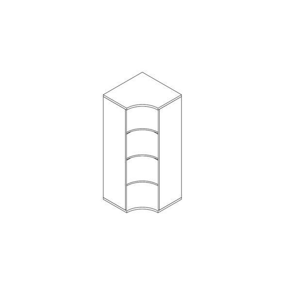 151-SA-NY nyitott-polcos sarokszekrény - 4 fakk