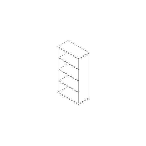 152-NY nyitott-polcos irodaszekrény - 4 fakk