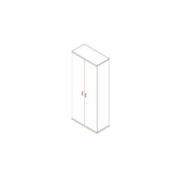 191-2A ajtós-polcos irodaszekrény - 5 fakk