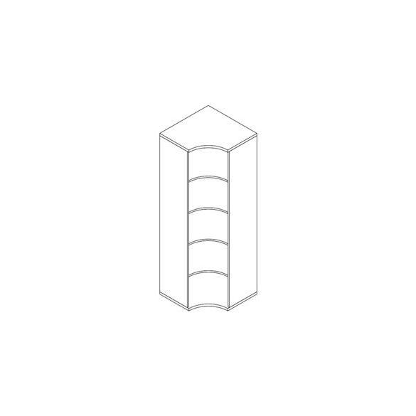 191-SA-NY nyitott-polcos sarokszekrény - 5 fakk