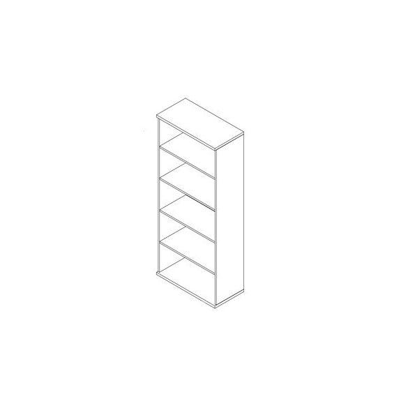 192-NY nyitott-polcos irodaszekrény - 5 fakk