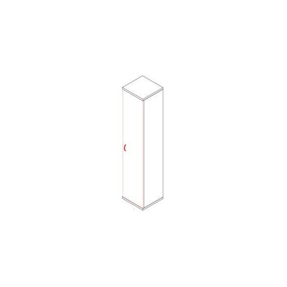 193-1A-J ajtós-polcos feles irodaszekrény jobbos kivitelben - 5 fakk