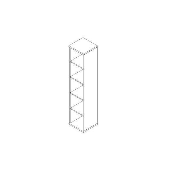 194-NY-F nyitott-polcos feles irodaszekrény - 5 fakk