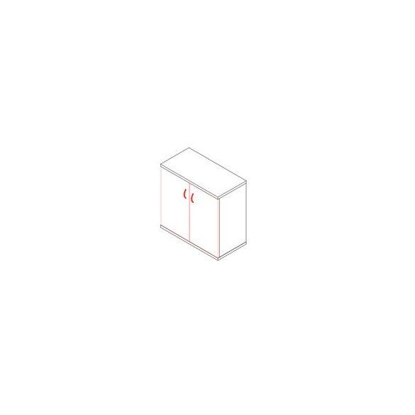 71-2A-AM ajtós-polcos asztalmagas irodaszekrény - 2 fakk