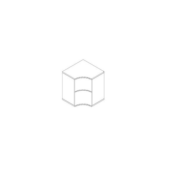 71-SA-NY nyitott-polcos sarokszekrény - 2 fakk
