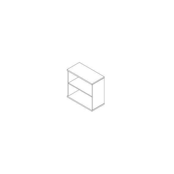 72-NY-AM nyitott-polcos asztalmagas irodaszekrény - 2 fakk