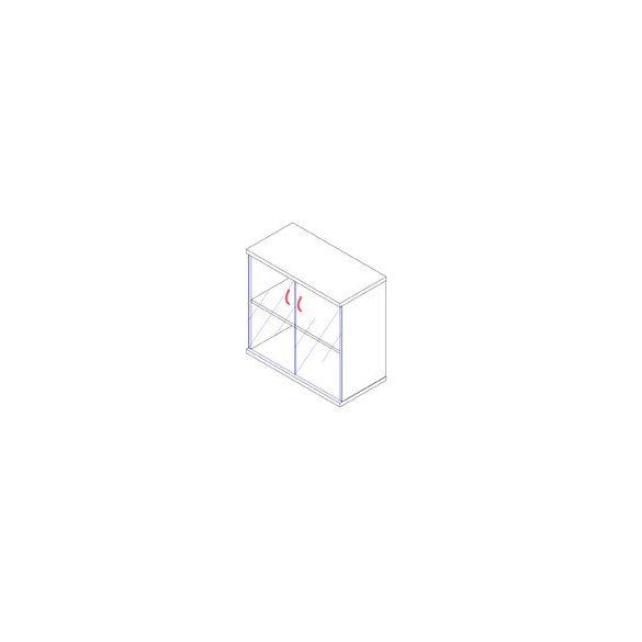 73-2A-Ü üvegajtós-polcos irodaszekrény - 2 fakk
