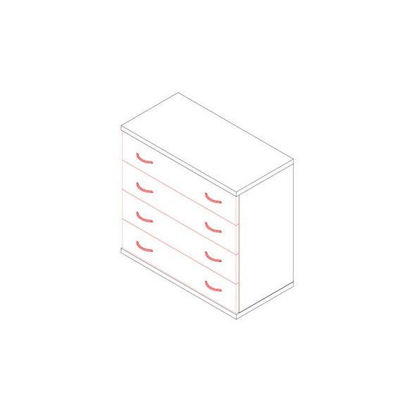 75-FI fiókos irodaszekrény - 4 fiók
