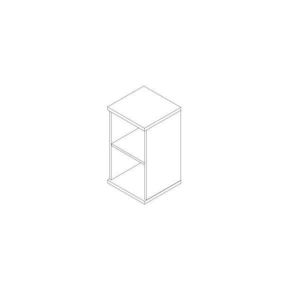 79-NY-F-AM nyitott-polcos asztalmagas feles irodaszekrény - 2 fakk