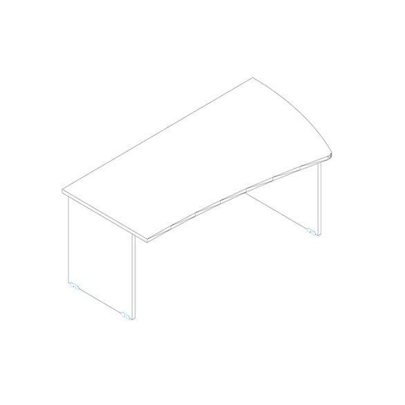 GP 180/99 íróasztal balos kivitelben