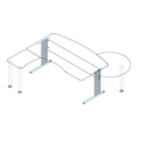 KIV-180/102 fémlábas vezetői íróasztal összeállítás