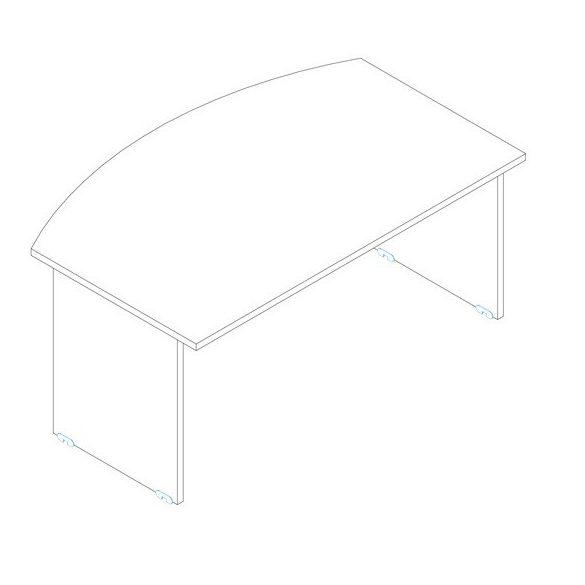 EI 160/100 vezetői íróasztal