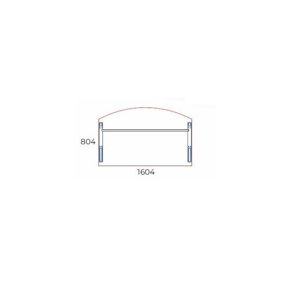 EI-160/100 fémlábas vezetői íróasztal