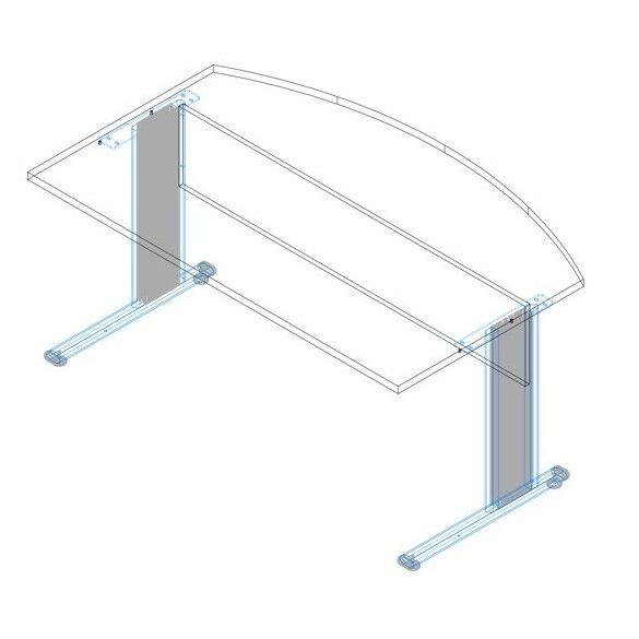 EI-180/100 fémlábas vezetői íróasztal