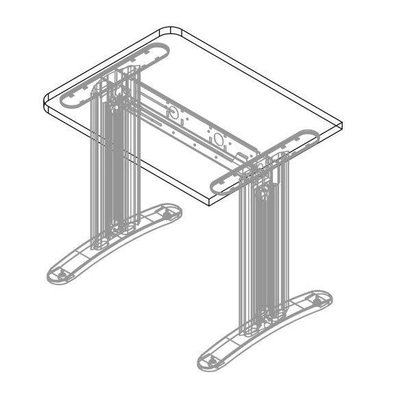EK-140/62 LUX fémlábas íróasztal