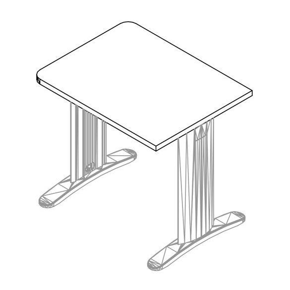EK 160/80 LUX fémlábas íróasztal