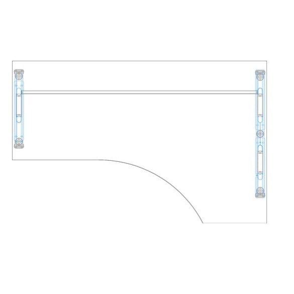 GA-160/102 fémlábas íróasztal jobbos kivitelben