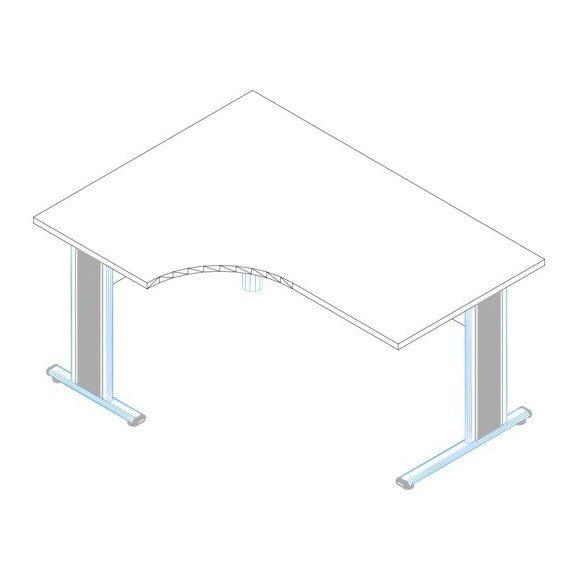 GA-160/120 fémlábas íróasztal balos kivitelben