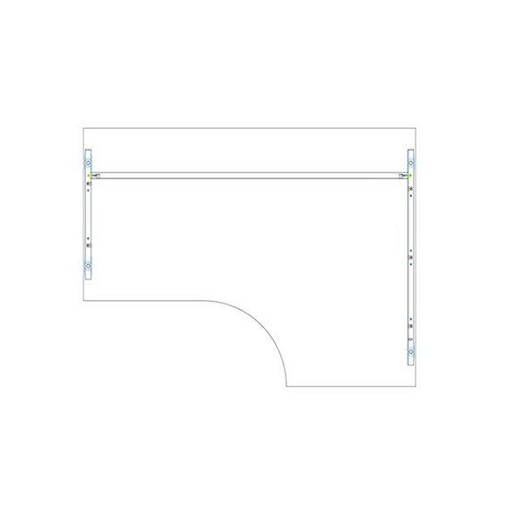 GA 180/102 íróasztal jobbos kivitelben