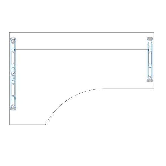 GA-180/102 fémlábas íróasztal balos kivitelben