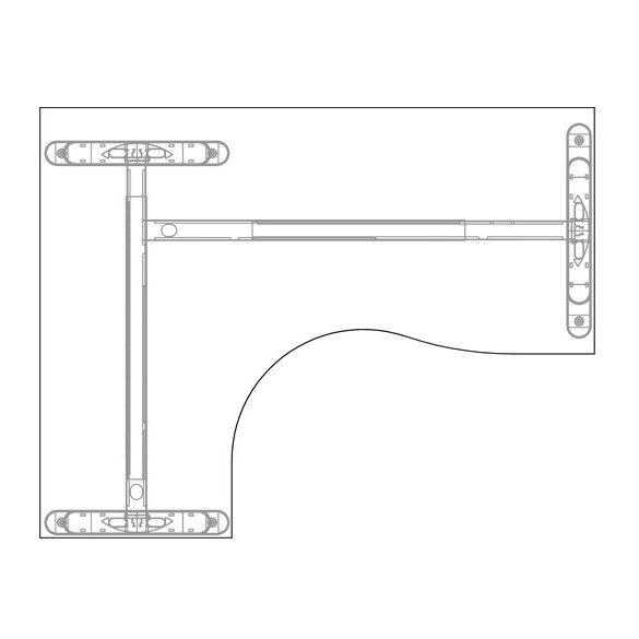 GA-180/120 LUX fémlábas íróasztal balos kivitelben