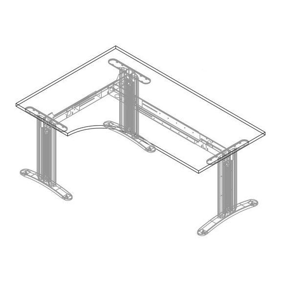 GA-200/120 LUX fémlábas íróasztal jobbos kivitelben