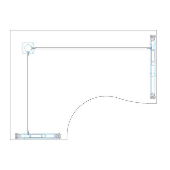 GB-160/120 fémlábas íróasztal balos kivitelben