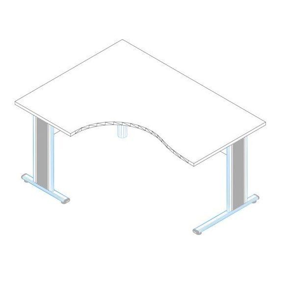 GB-160/120 fémlábas íróasztal jobbos kivitelben